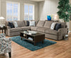 Grandstand Flannel Transitional Sectional