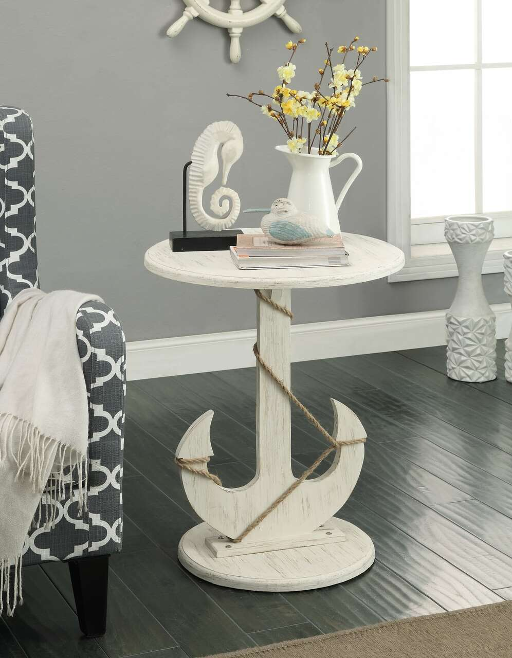 Anchor and Rope Accent Table