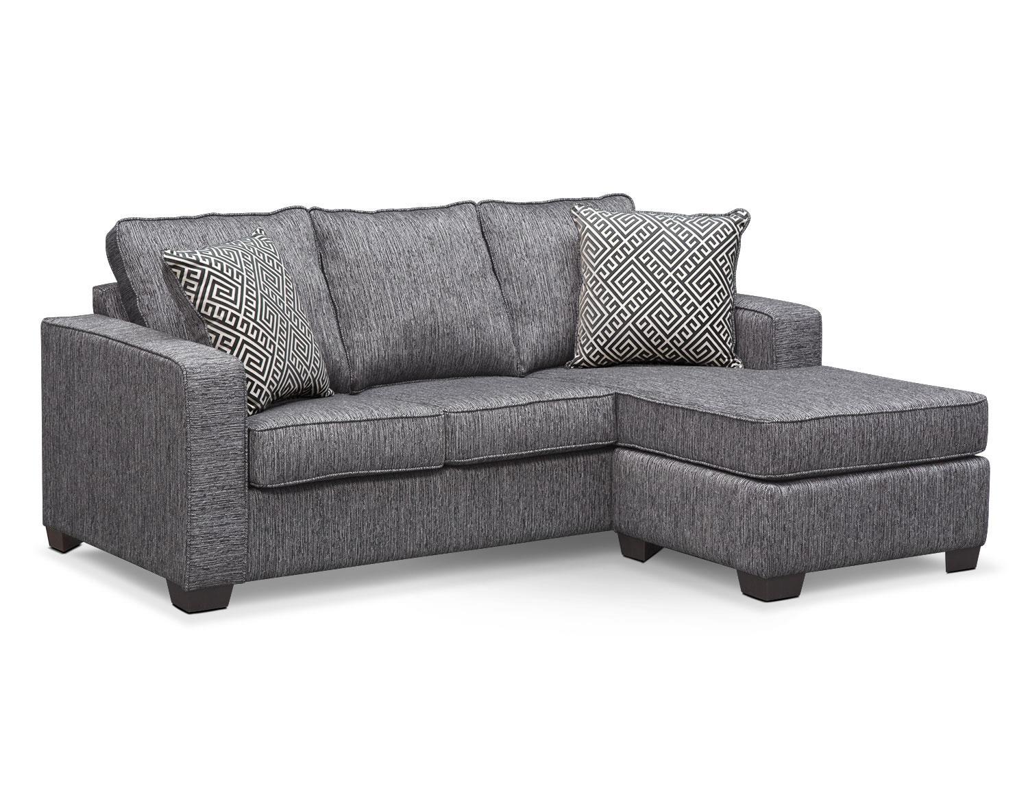 Sterling Charcoal Chaise Sofa