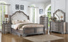 Upholstered Country Gray Queen Bedroom Set