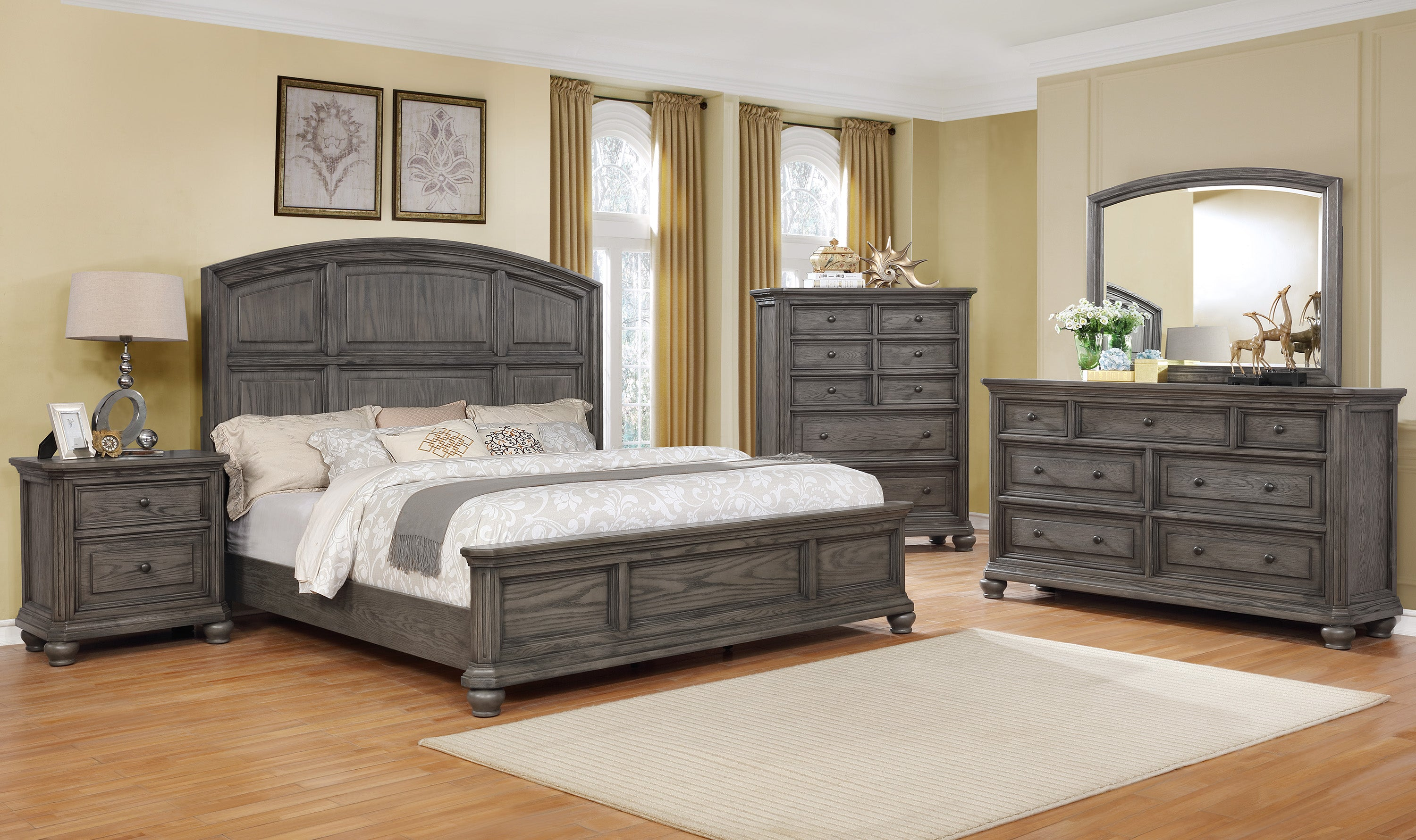 Lavonia Gray Panel Queen Bedroom Set