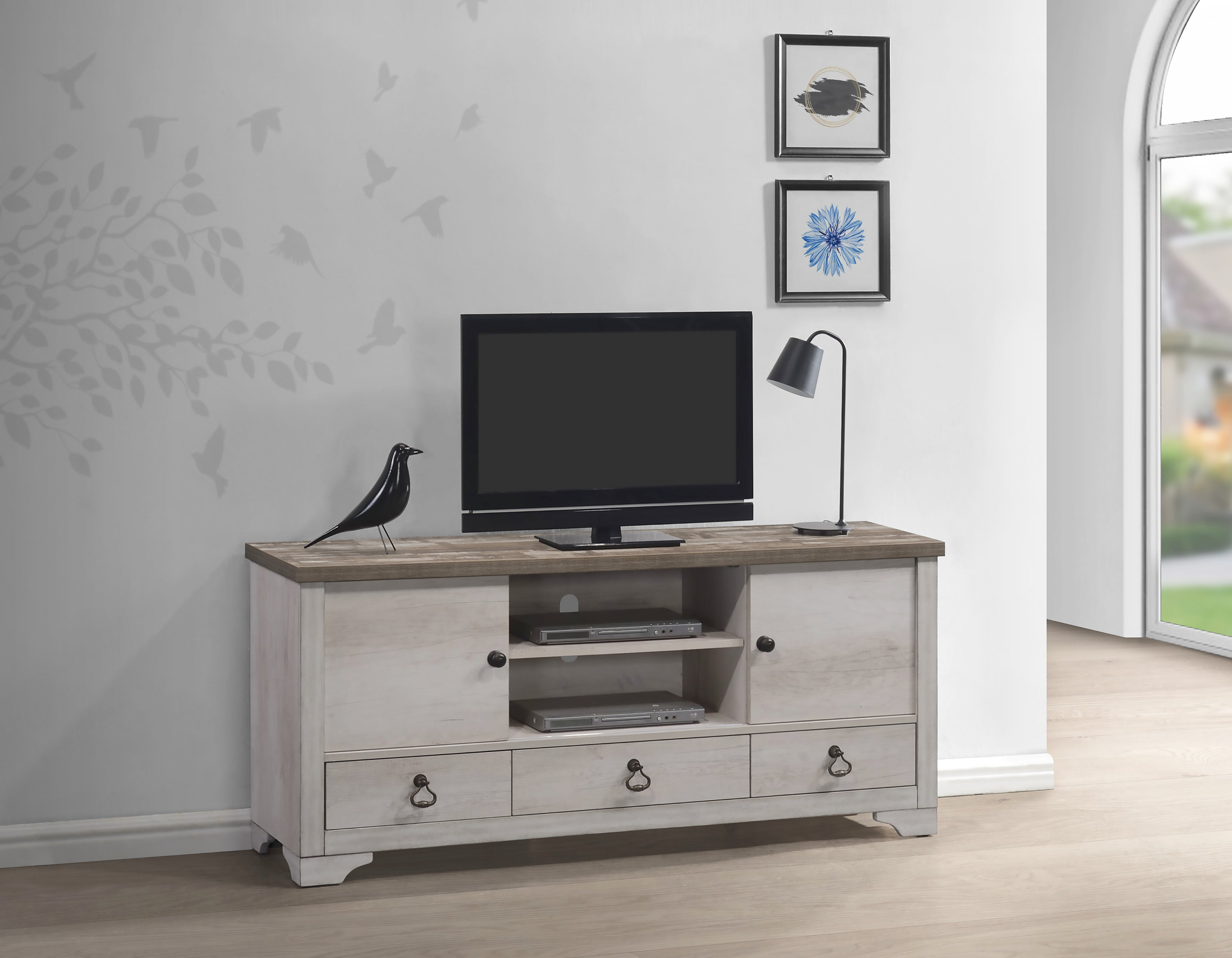 Shiplap Farmhouse TV Stand