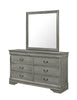 Gray Full Sleigh Bedroom Set
