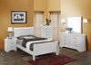 White Twin Sleigh Bedroom Set