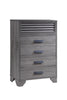 Sarter Gray Louvered King Bedroom Set