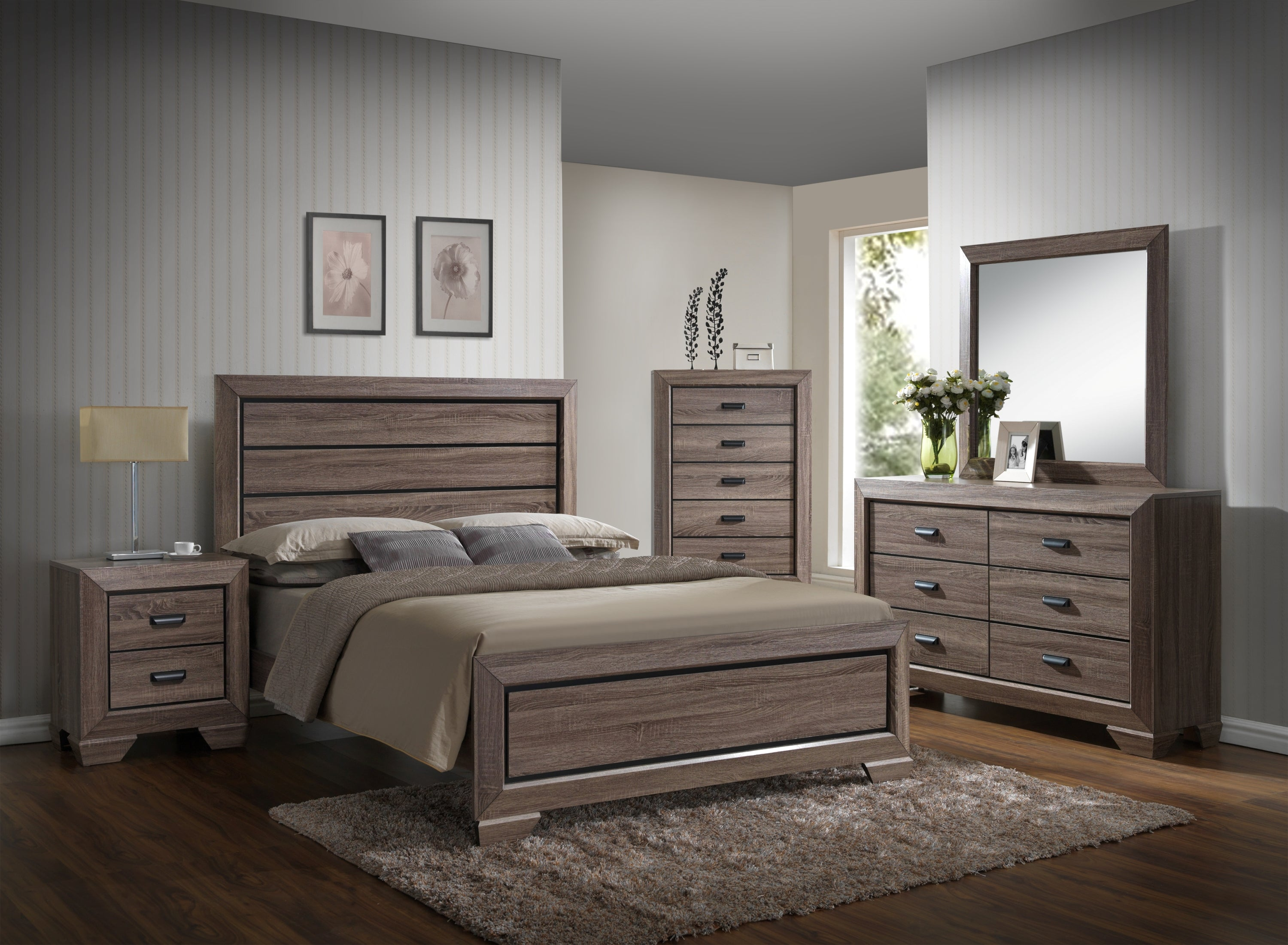 Farrow Driftwood Full Size Bedroom Set My Furniture Place