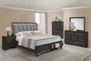 Jaymes Upholstered Storage King Bedroom Set