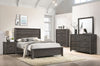 Dark Gray Panel Twin Bedroom Set