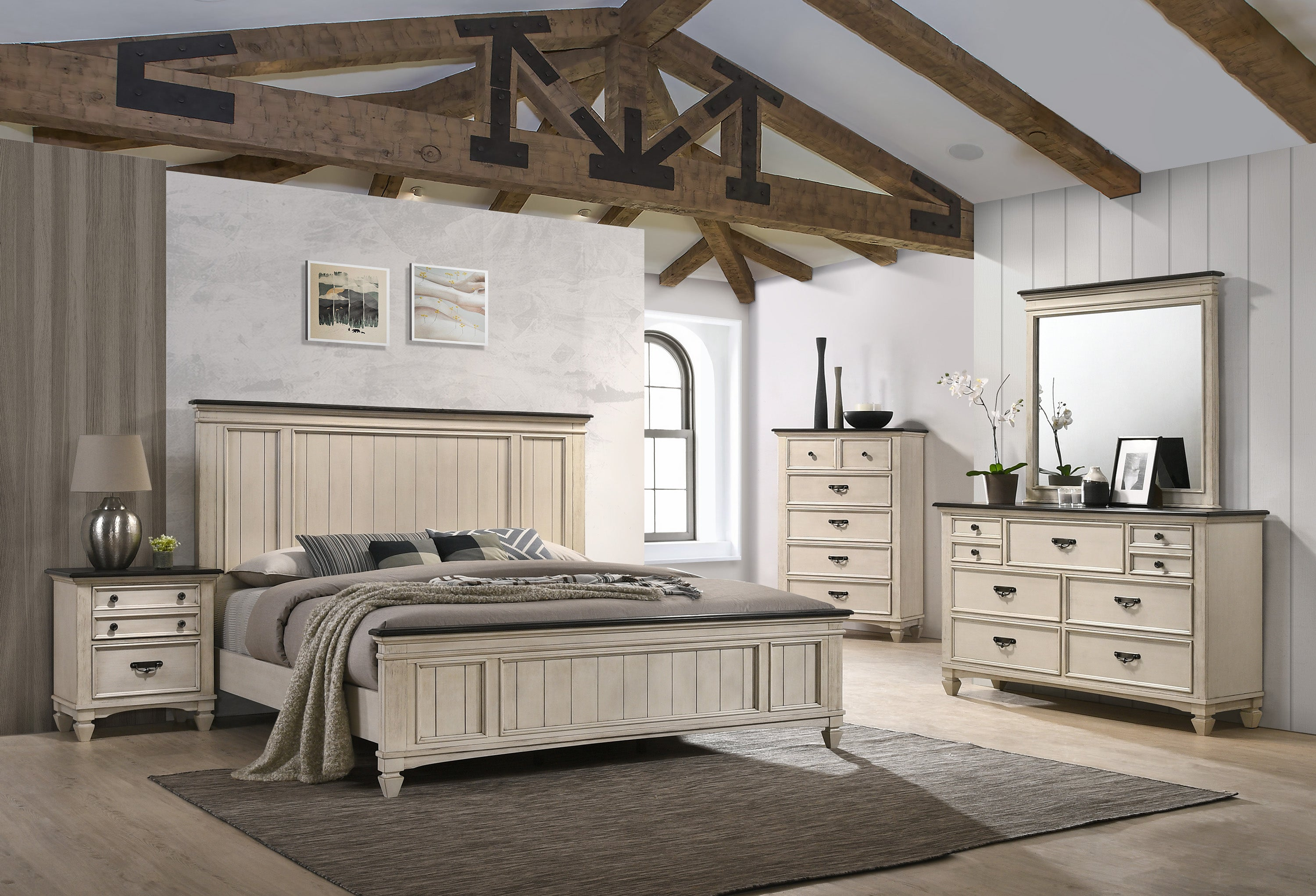 Modern Farmhouse Sawyer Queen Size Bedroom Set My Furniture Place