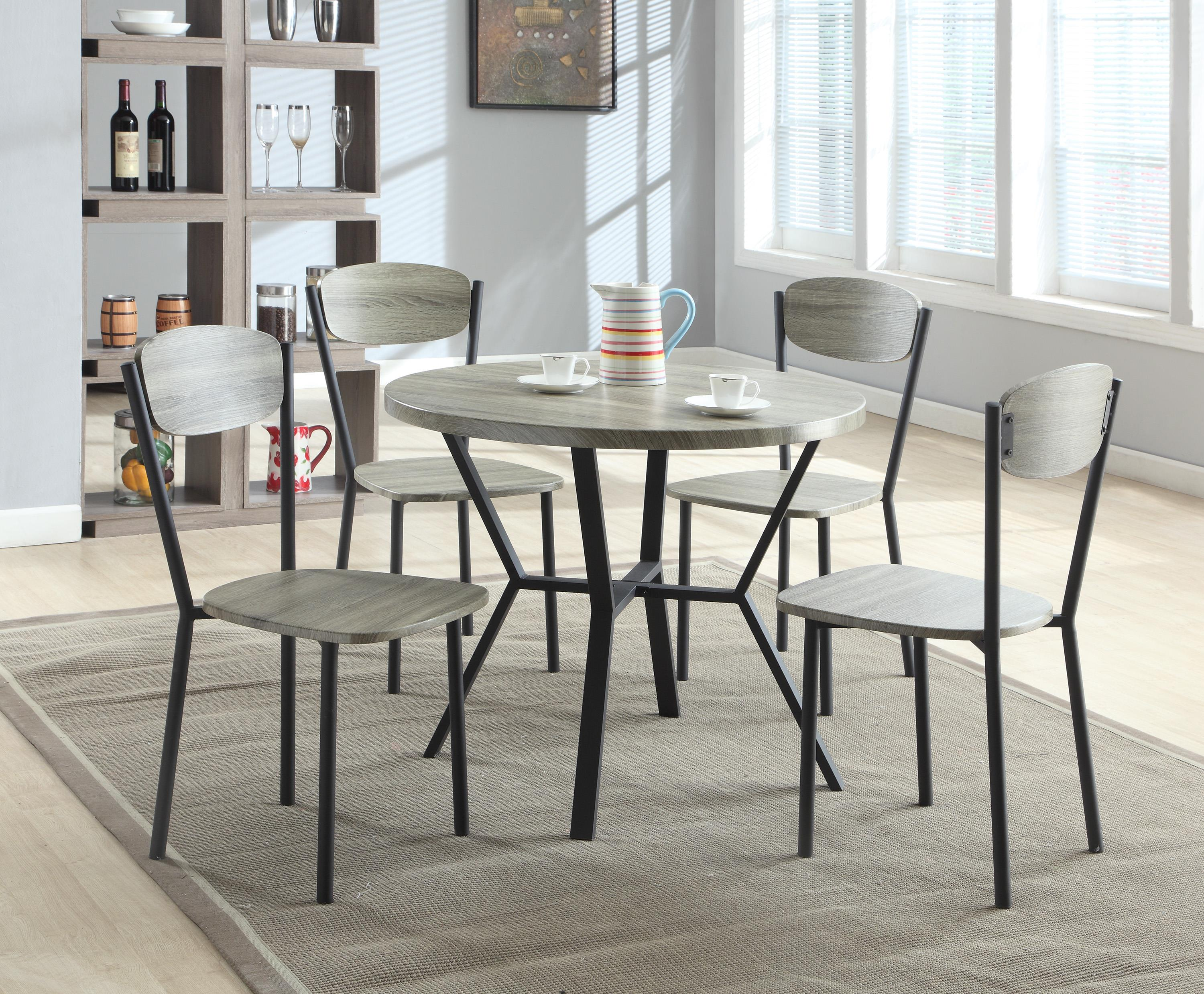 Blake Gray Wood & Metal Dining Set