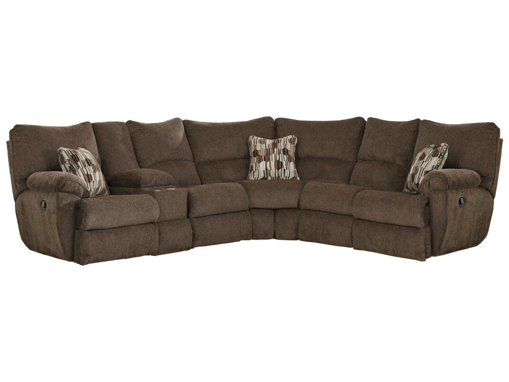 Catnapper Chocolate Reclining Sectional