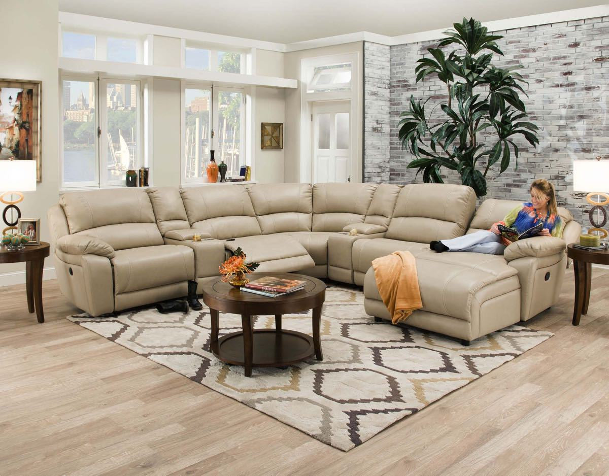 Faulkner Ch&agne Reclining Chaise Sectional : sectional with reclining chaise - Sectionals, Sofas & Couches