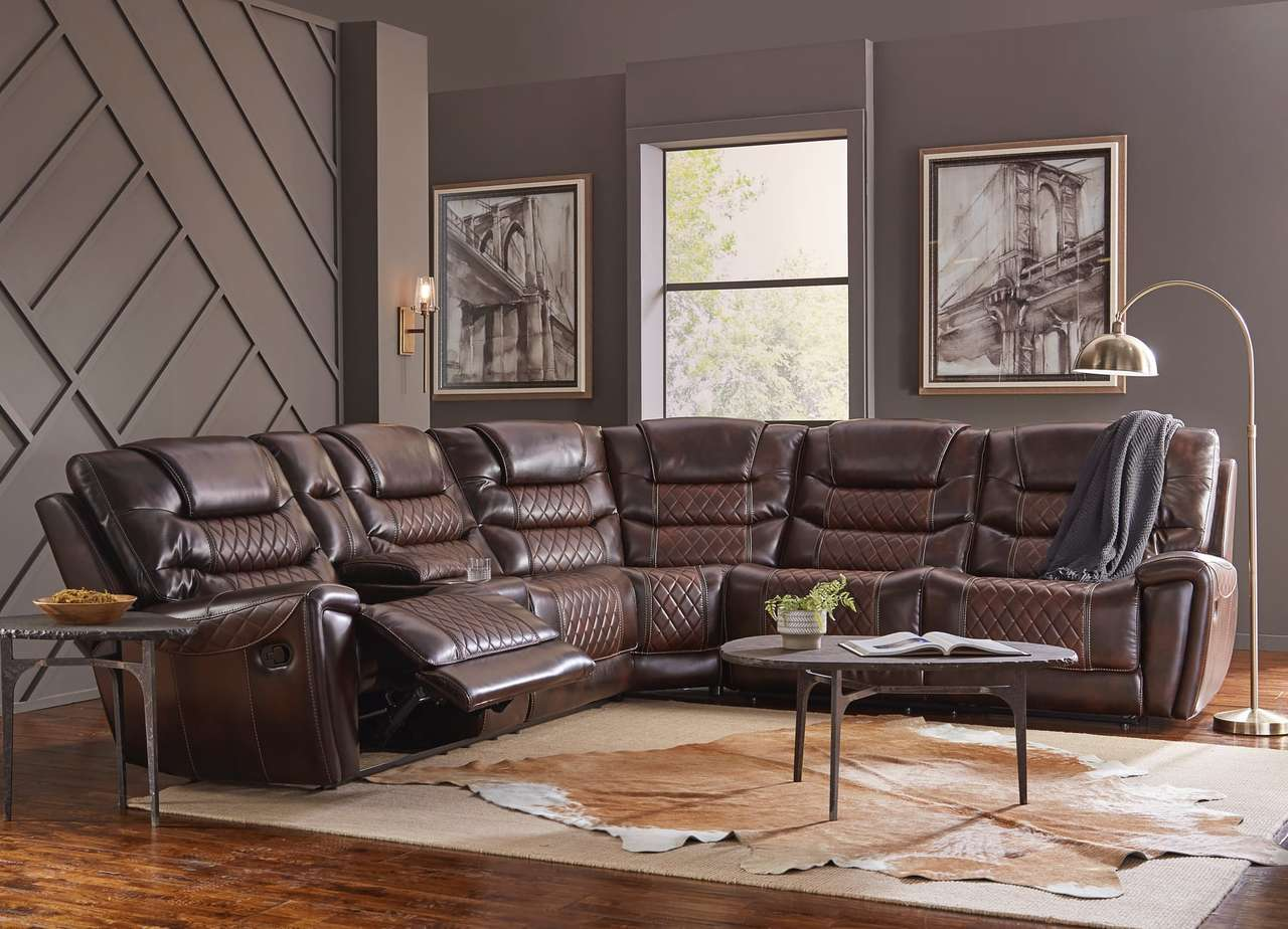 Diamondback Burnished Brown Sectional