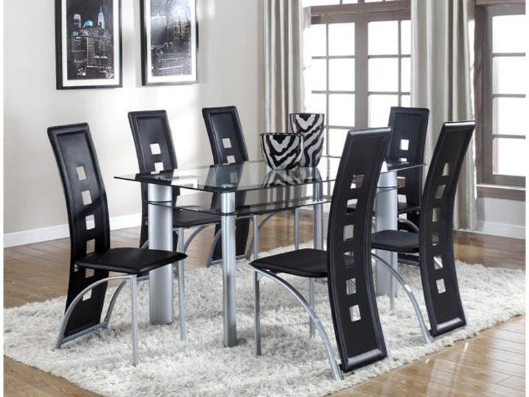 Echo Glass Top Dining Set