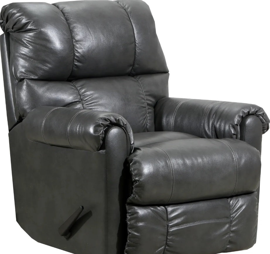 Lane Leather Soft Touch Graphite Recliner