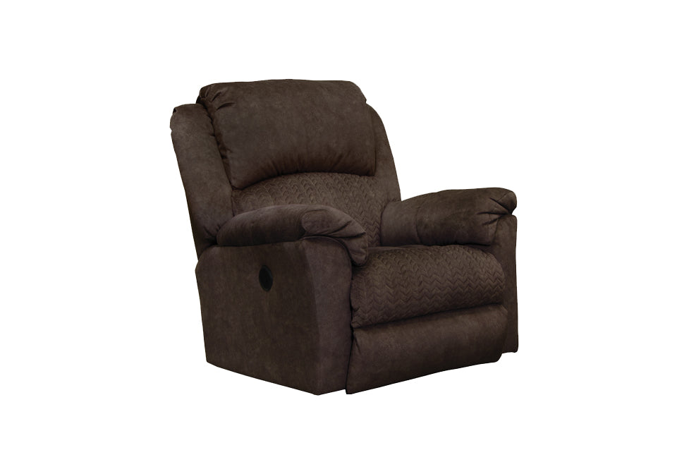 Chocolate USB Power Rocker Recliner