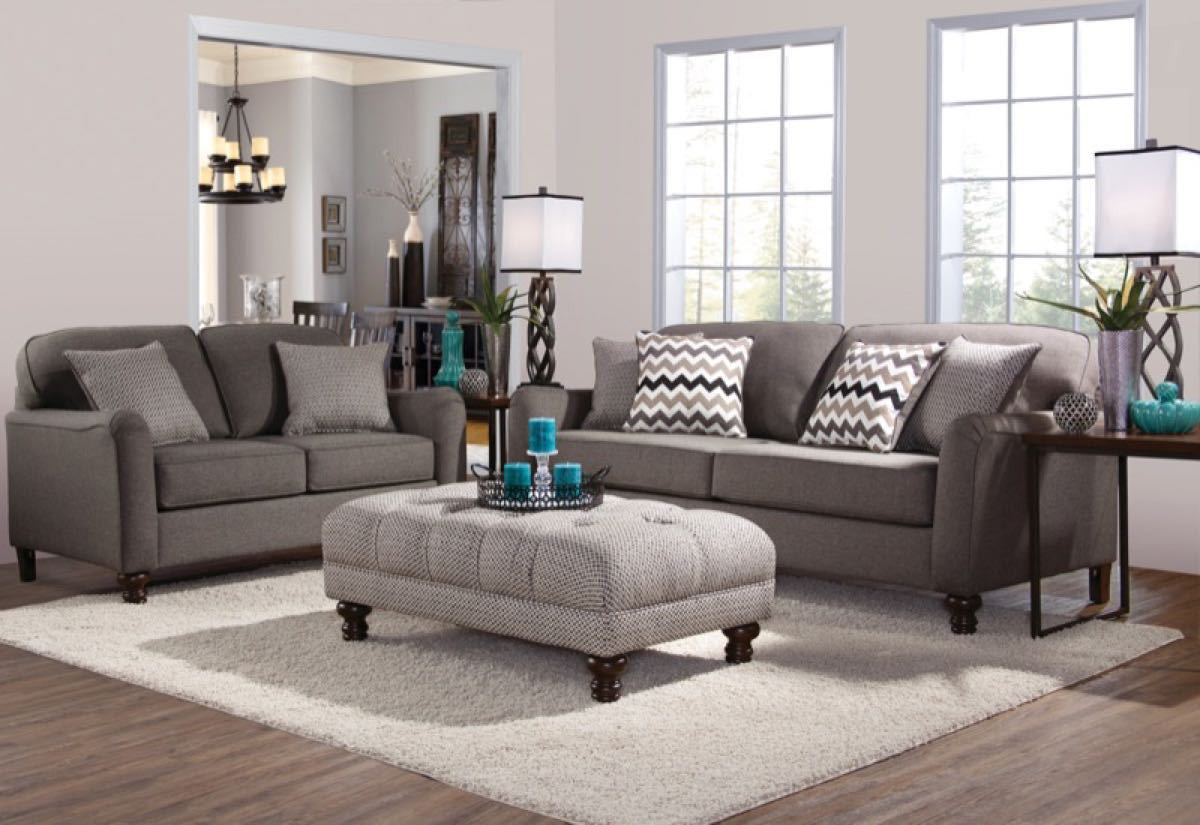 Serta Upholstery Max Ash Sofa And Loveseat My Furniture