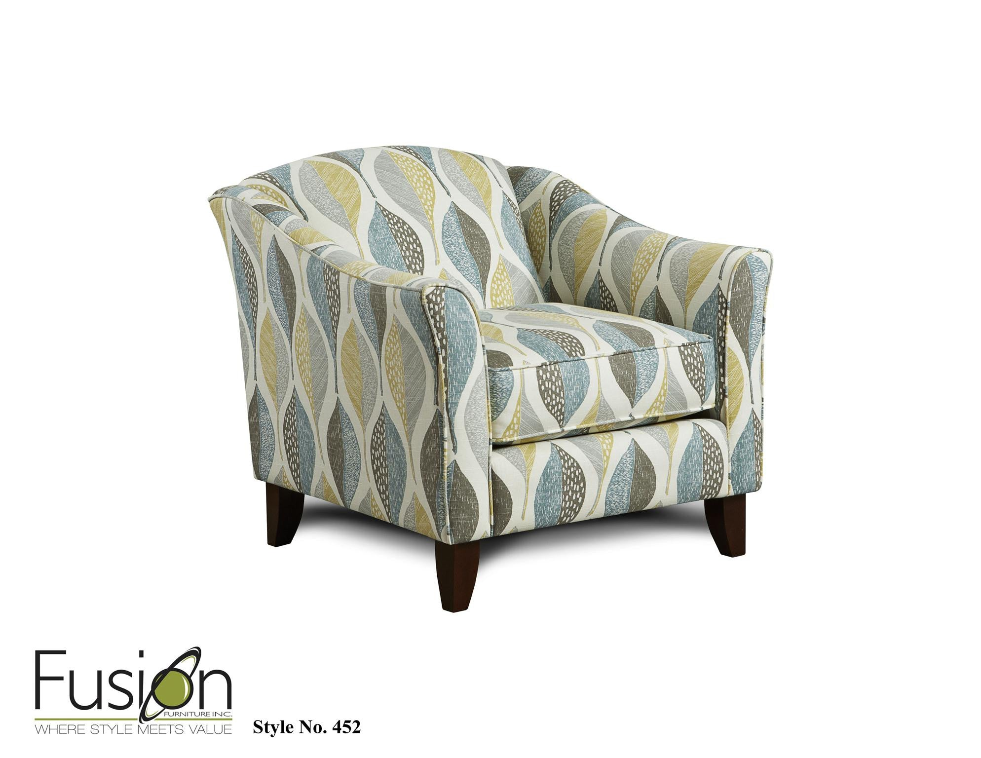 Fusion Decade Aqua Sofa and Loveseat , Stationary sofa and loveseat - Fusion Furniture. Inc., My Furniture Place - 3