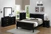 Black Full Sleigh Bedroom Set
