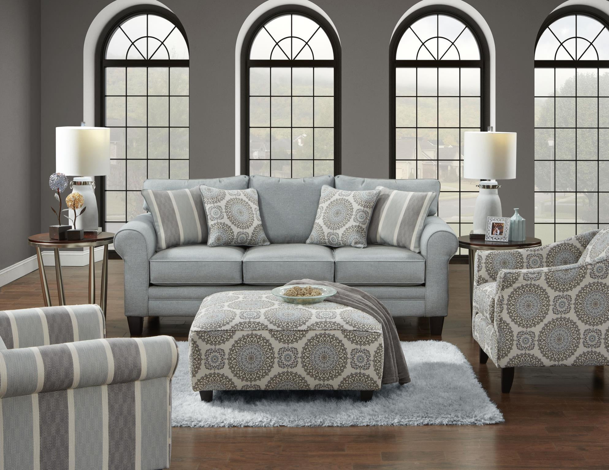 Fusion Grande Mist Sofa And Loveseat My Furniture Place