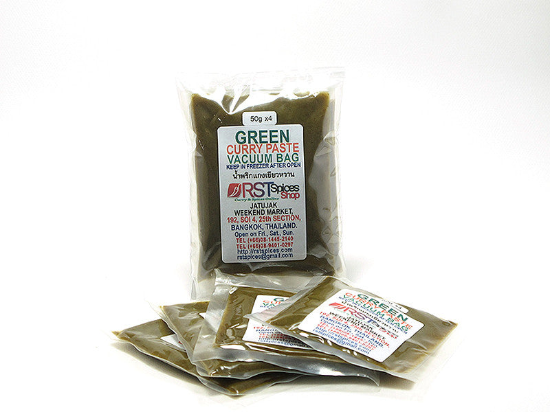 Green Curry Paste In Vacuum Bag