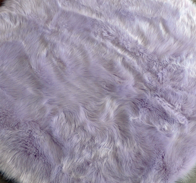 Machine Washable Faux Sheepskin Cloud Lavender Area Rug