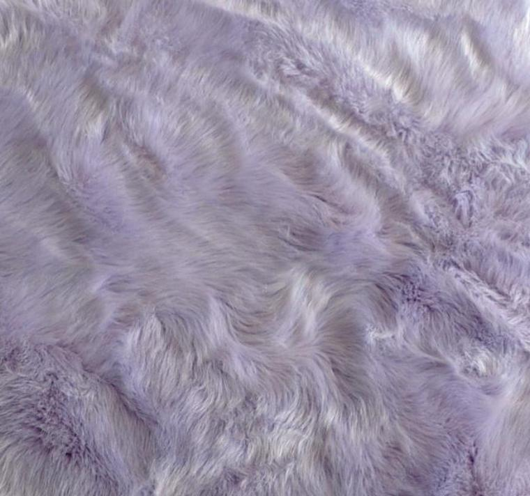 Machine Washable Faux Sheepskin Lavender Area Rug - 4' x 6'