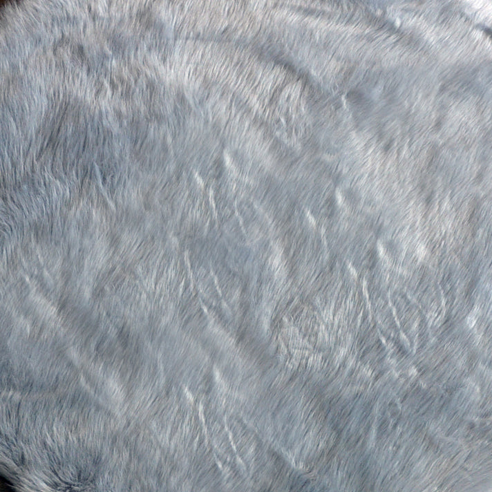 Machine Washable Faux Sheepskin Light Grey Area Rug