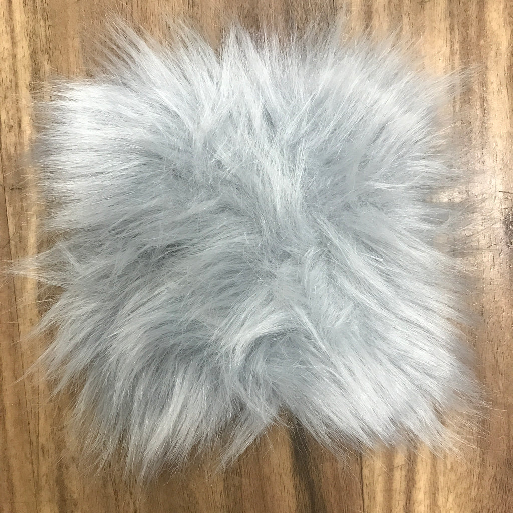 "Faux Sheepskin 5"" x 5"" sample - Light Grey"