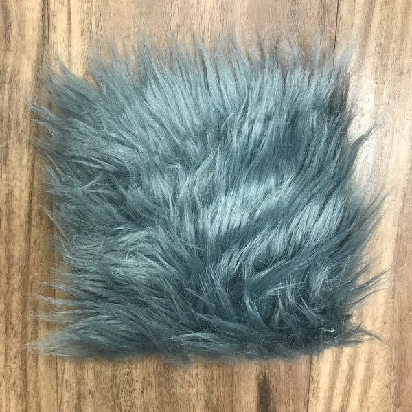 "Faux Sheepskin 5"" x 5"" sample - Grey"