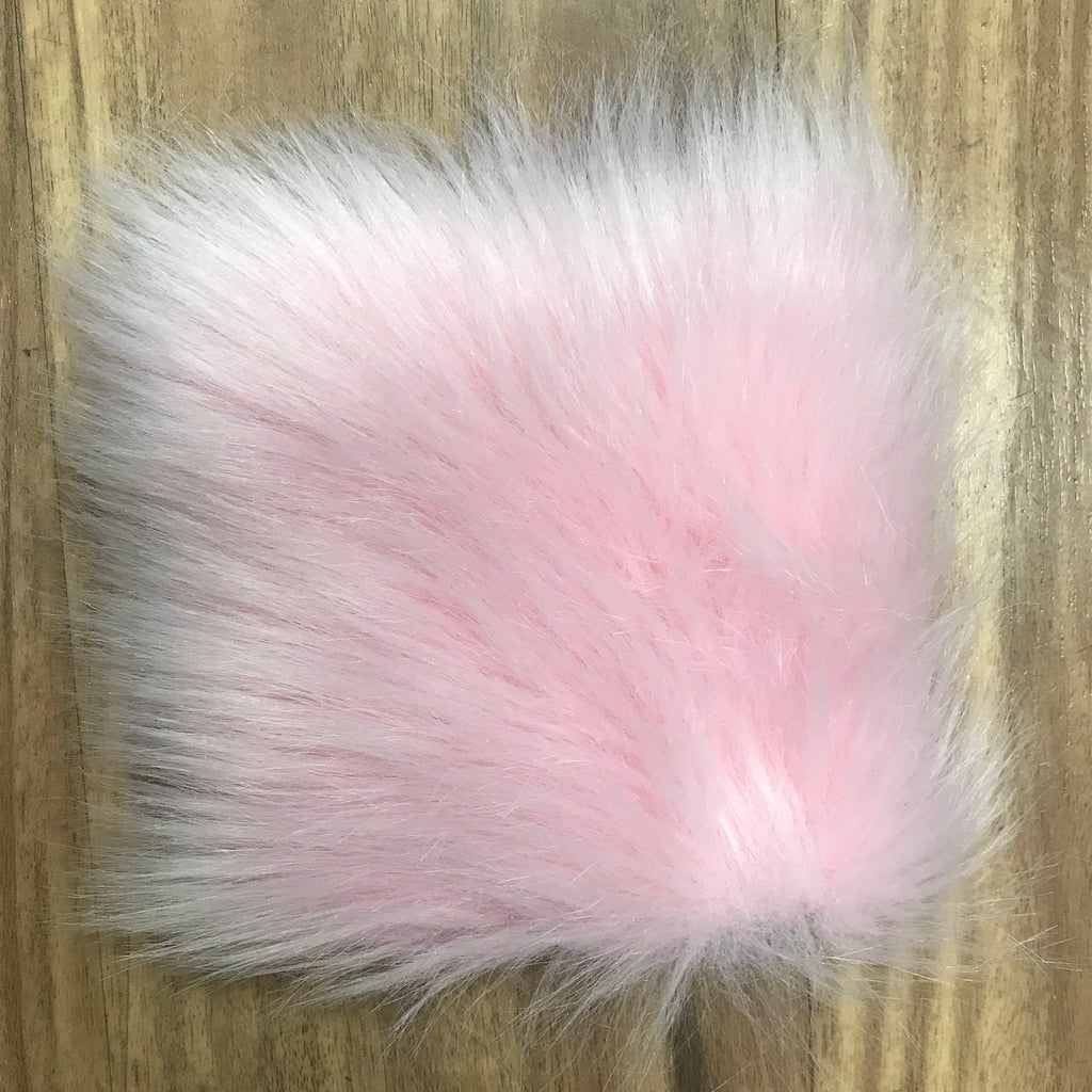 "Faux Sheepskin 5"" x 5"" sample - Cotton Candy Pink"