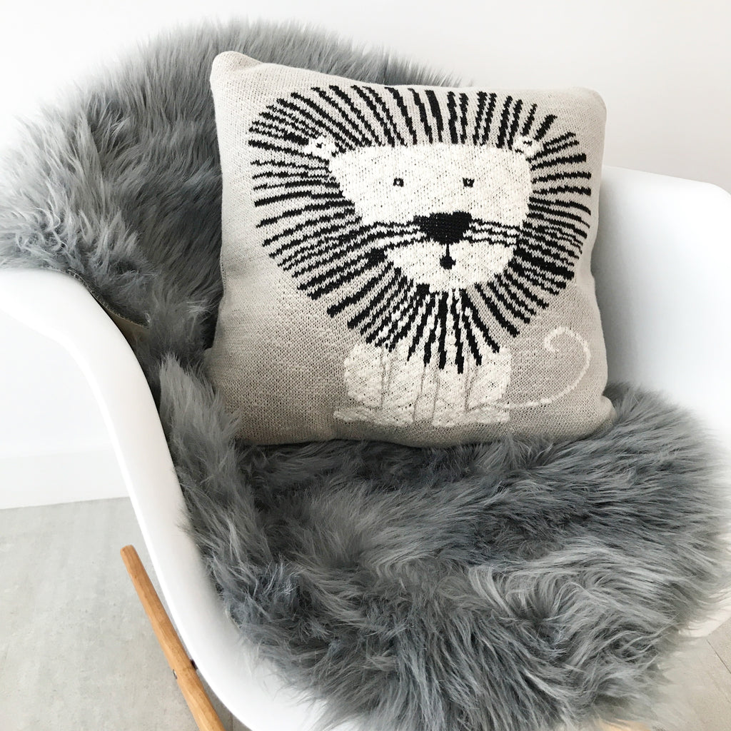 Machine Washable Faux Sheepskin Grey Area Rug