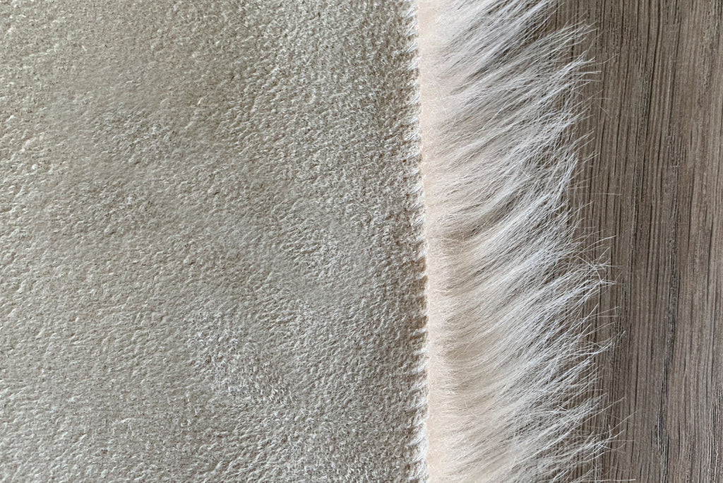 NEW! Machine Washable Faux Sheepskin Champagne Area Rug