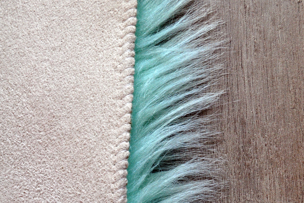 Machine Washable Faux Sheepskin Mint Area Rug