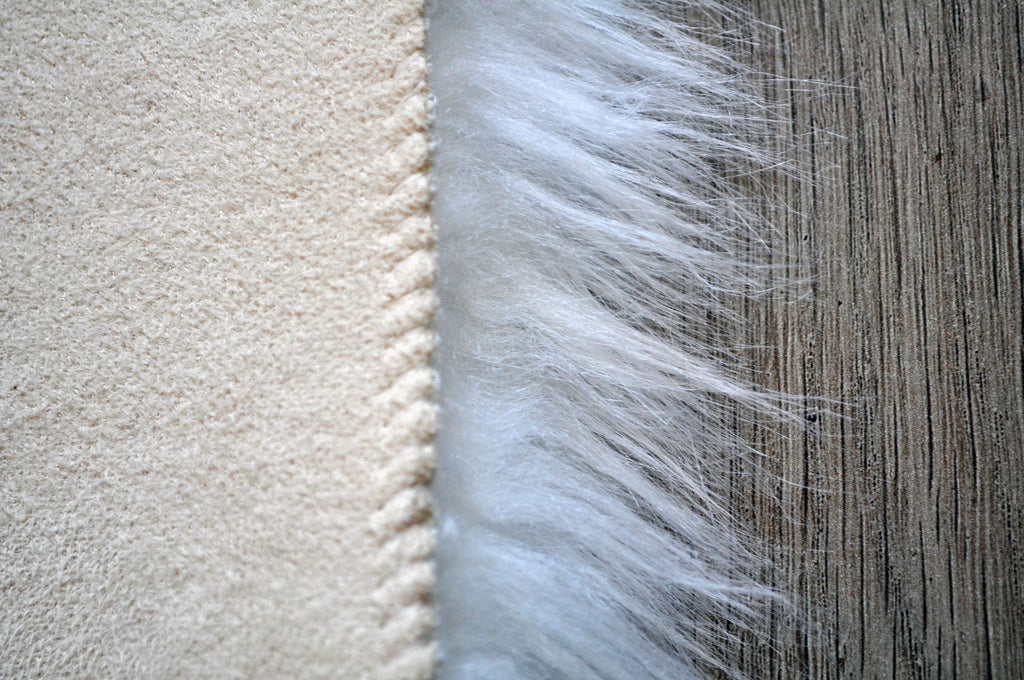 SAMPLE Machine Washable Faux Sheepskin White Cloud Area Rug