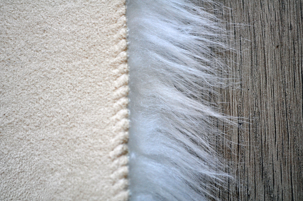 Machine Washable Faux Sheepskin White Round Area Rug