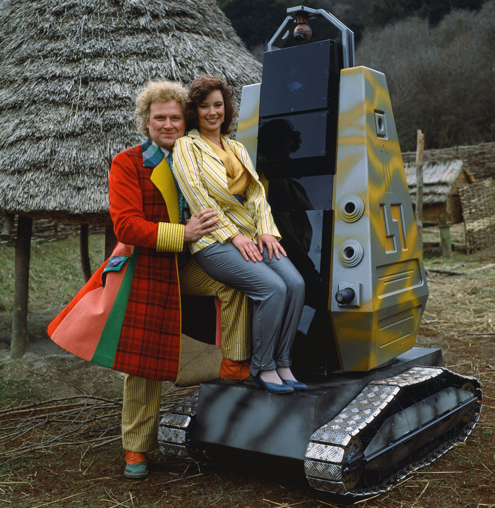 Detail of Colin Baker with Nicola Bryant by Anonymous