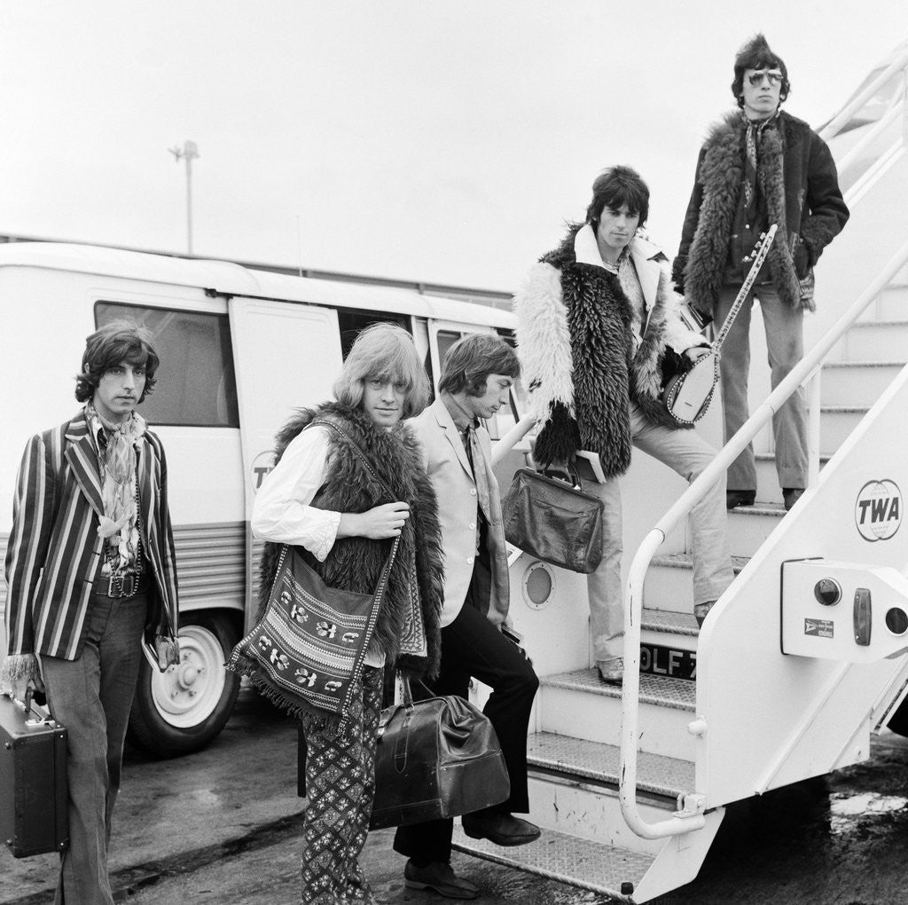 Detail of Members of The Rolling Stones heading for New York by Anonymous