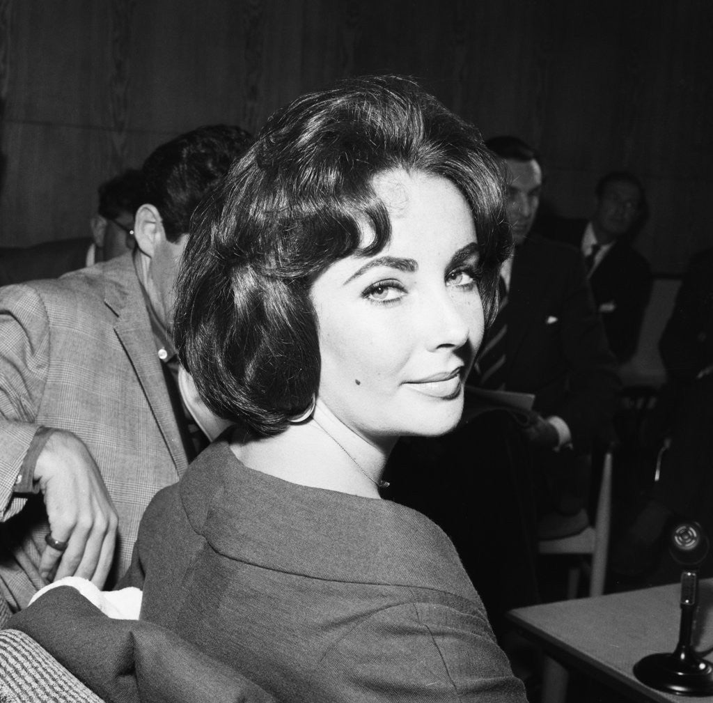Detail of Elizabeth Taylor with husband Eddie Fisher by Terry Fincher