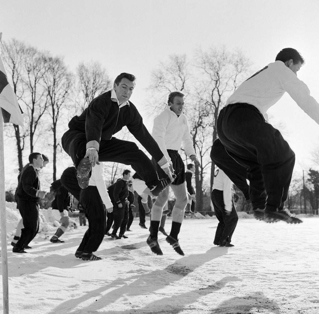 Detail of Johnny Haynes training with Fulham Reserves by Dexter