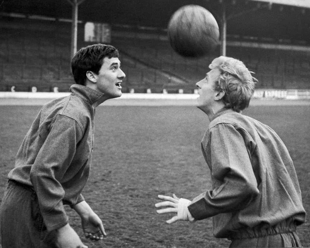 Detail of Jim Baxter and Denis Law by Anonymous