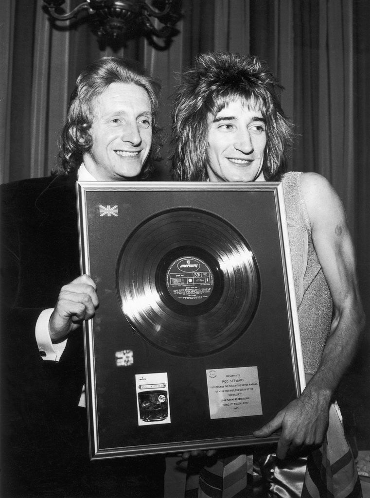 Detail of Denis Law with Rod Stewart by Anonymous