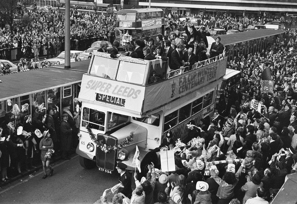 Detail of Leeds United reception after winning the FA Cup by David Hicks