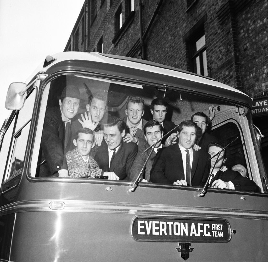 Detail of Everton players leave for Sunderland by Charlie Owens