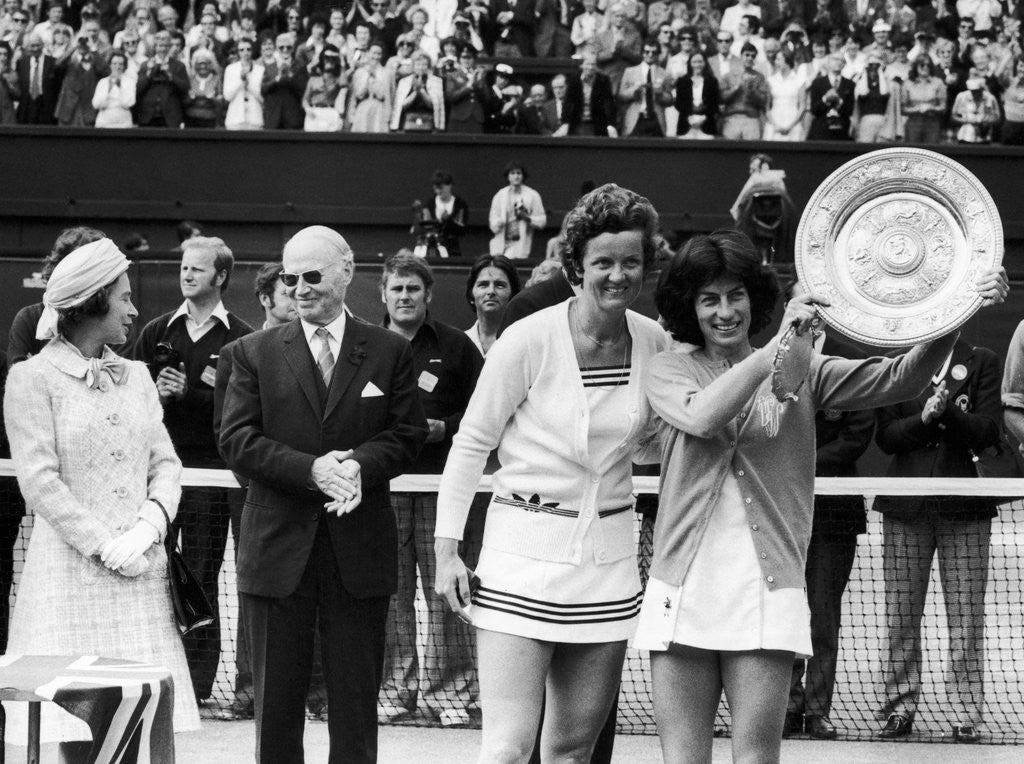 Detail of 14,000 stamping fans cheered Virginia Wade to victory by Staff