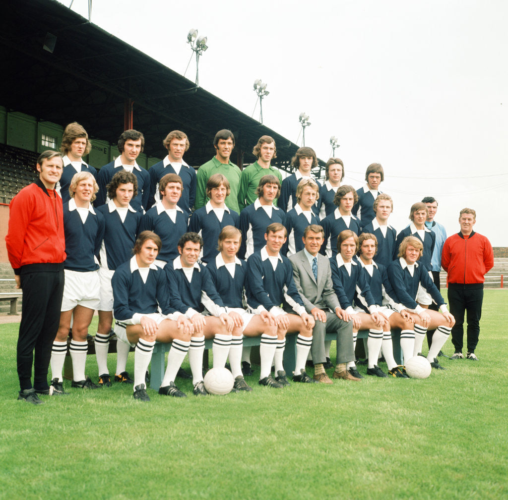 Detail of Falkirk F.C. pre season squad photograph 1972 by Daily Record