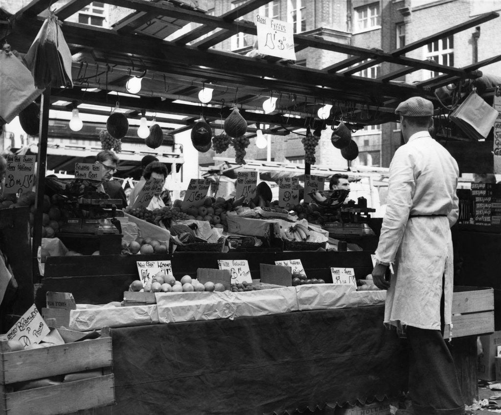 Detail of Greengrocers stall in East Street Market by Staff