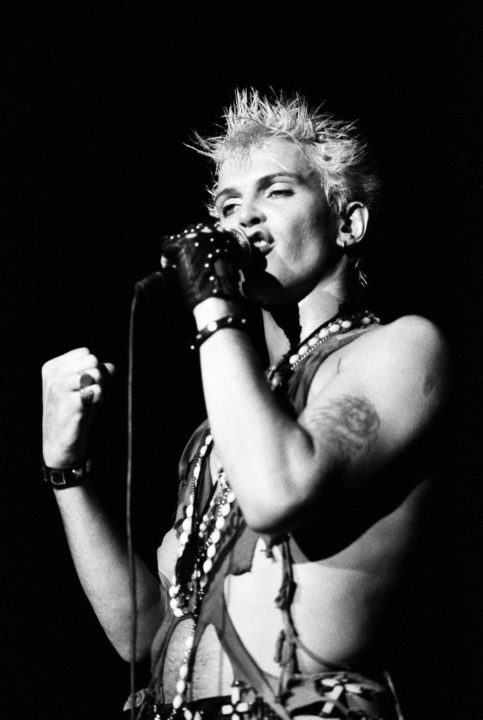 Detail of Billy Idol by Peter Stone