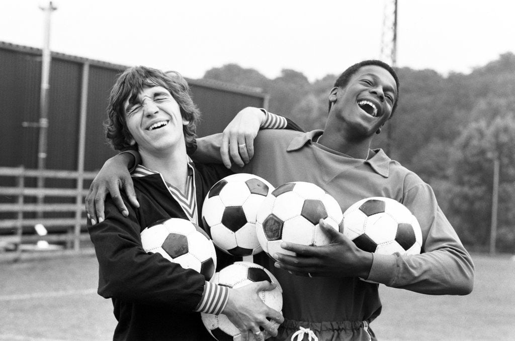 Detail of Kevin Reeves and Justin Fashanu 1979 by Alan Howard