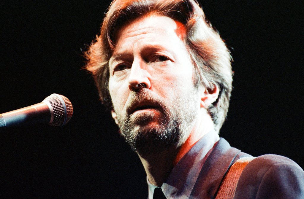 Detail of Eric Clapton 1992 by Roger Allen